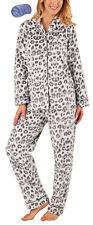i-Smalls Ladies all Over Animal Print Pyjama Set with Lilac Eye Mask