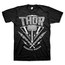 Oficial con licencia para Hombre Thor Ragnarok Villano Guerrero Negro T-Shirt