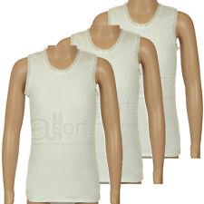 Niña Infantil Paquete De 3 Quality 100% Algodón Blanco Camiseta 1 - 11 Años