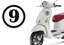 Pegatina vinilo Numero 9. Stiker vinyl cut number NINE. Outdoor or indoor. NUEVE