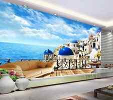 3D Mega Special Seaside City 489 Wall Paper Wall Print Decal Wall AJ Wall Paper