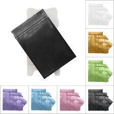 100pcs Shiny Aluminum Foil Zip Lock Mylar Bag Resealable Flat Repacking Pouch