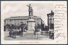 ALESSANDRIA CITTÀ 105 MONUMENTO A URBANO RATTAZZI Cartolina viaggiata 1900