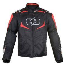 Oxford MELBOURNE 2.0 hommes veste noir de moto textile imperméable/Rouge