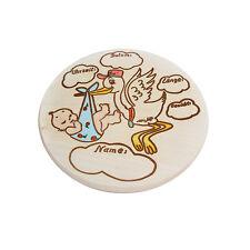 Geburtsteller Geburtsbrett Holzbrett Taufe Geburt Geburtsschild Geschenk blau