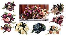 Pfingstrosen 52cm Seidenblumen Kunstblumen Bund  Blumenstrauß 8 Farben nach Wahl