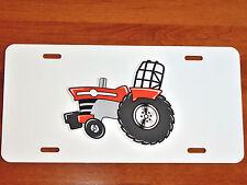 MF Massey Ferguson PULLER Tractor LICENSE PLATE on BLACK or WHITE Aluminum Plate
