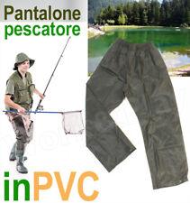 PANTALONE IMPERMEABILE ANTIPIOGGIA PESCATORE PVC BICI SCOOTER PIOGGIA BARCA