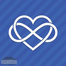 Interlocking Infinite Love Heart Infinity Vinyl Decal Sticker