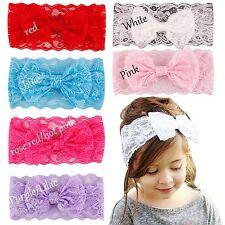 Bow Headband  Baby Infant Toddler Lace flower elastic Girls Hair Band Fascinator