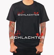 Profi Schlachter Metzger Messer Beil Fleischer Funshirt T-Shirt Geschenk S456