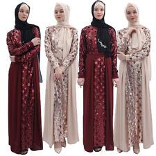 New Dubai Muslim Women Abaya Sequins Maxi Dress Robe Party Kaftan Jilbab Dresses