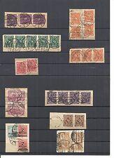 Deutsches Reich 1919 - 1923, verschiedene Briefstücke aus MiNrn: 113 - 327 o