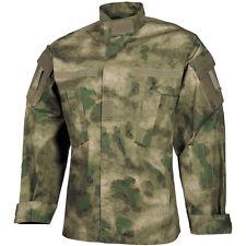 Mfh Acu Ripstop Camisa Uniforme Hombres Eeuu Ejército Combate Manga Larga Chaque