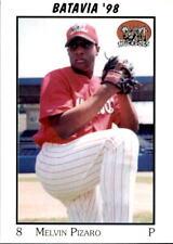 1998 Batavia Muckdogs Team Issue #22 Melvin Pizaro Carolina Puerto Rico PR Card
