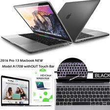 "Crystal Hard Case Soft Keyboard Cover Screen Protector Fo 13"" Macbook Pro Retina"