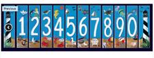 Art Tile Beach Ocean Fish Aquarium House Ceramic Address number 0-9 Lighthouse