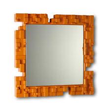 SLIDE specchio da parete PIXEL con cornice in polietilene colorato 80x80 cm