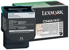 Lexmark C540A1KG Original OEM Black Laser Toner Cartridge