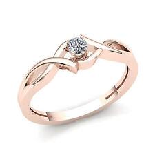 Natural 0.33carat Round Diamond Ladies Bridal Solitaire Engagement Ring 14K Gold