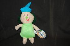 "Green Hair Dress Clown Doll Kelly Toy Animal Pals  NWT 13"" Plush Stuffed  Lovey"