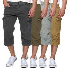INDICODE 3/4 Cargo Shorts inkl. Gürtel aus nachhaltiger Baumwolle