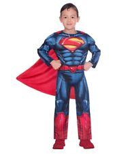 Childs Classic Superman Fancy Dress Super Hero Costume DC Comic Book Kids Boys
