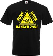 PUNK ROCK DANGER ZONE Black T-Shirt
