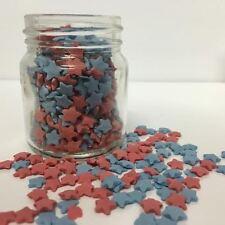 Rojo y Azul Estrellas de azúcar de zarzamora cupcake decoraciones