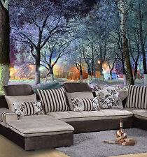 3D Dark Night Tree Shadow 423 Wall Paper Wall Print Decal Wall Deco Indoor Wall