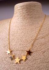 Collana Lunga Elegante da Donna Stelle Stelline Femminile Color Argento e Oro