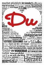 Motivational - Du machst glücklich - Poster Druck - Größe 61x91,5 cm