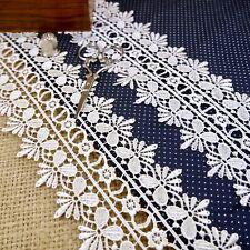 White Cream Guipure Lace Floral Lingerie M390