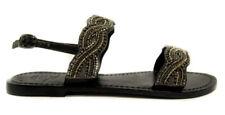 Ovye 12376 black sandali donna bassi sandales sandalen woman