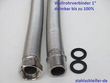 "Flexrohr, Wellrohrverbinder 1"" , Edelstahl, Solar, Heizung, Kachelofen"