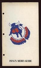 1974/75 WHA Toronto Toros Media Guide