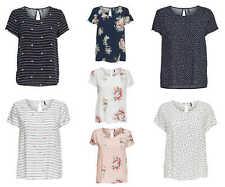 ONLY Damen T-Shirt Bluse onlFIRST MIX TOP Tunika Sterne Streifen Herzen Blumen