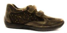 Nero giardini 26116 bronzo scarpa da bambina chiusura strappo pelle shoe chaussu