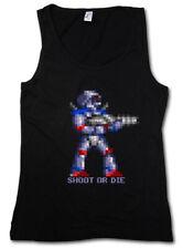 SHOOT OR DIE TANK TOP - Turrican Game Sprite Amiga Figur Robot Spiel