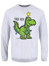 Tree REX Christmas Jumper Maglione Uomo Grigio
