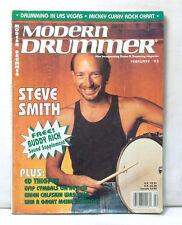 MODERN DRUMMER MAGAZINE STEVE SMITH ED THIGPEN FEB 1993