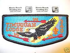 OA 340 Timuquan S11,1980s,ORD,Eagle,BLK Bdr,Flap,West Central Florida Council,FL