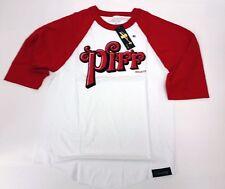 Piff Raglan Tee - Hip Hop Urban Street wear Red and White