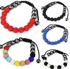 6pcs/lot 10mm mixed white black Wholesale beads men crystal shamballa bracelet