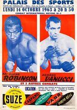 Vintage 1963 Sugar Ray Robinson Armand Vanucci Boxing Poster  A3 Print