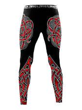 Raven Fightwear Men's The Gods of Scandinavia Tyr Leggings Spats Mma Bjj Black