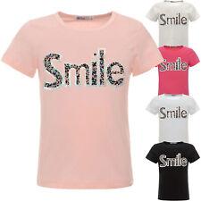 coole Glitzer T Shirt Mädchen Kinder Sommer Shirt Oberteil Bluse Hologramm 22537
