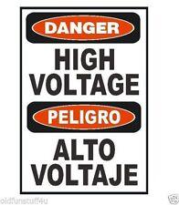 Spanish Bilingual High Voltage Sticker D331