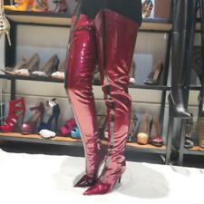 Women Thigh High Boots Stiletto High Heels Boots Shinny Shoes  Nightclub Shoes