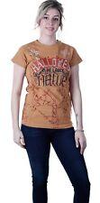 BLAC Label Women's Pink Hallowed Short Sleeve Glittery T-Shirt Brown